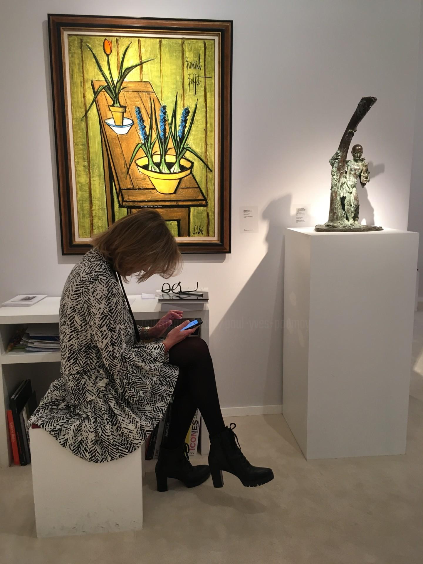Paul Yves Poumay - art gallery - flower woman
